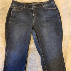 Lane Bryant Woman's Dark Skinny Jeans 22 Short